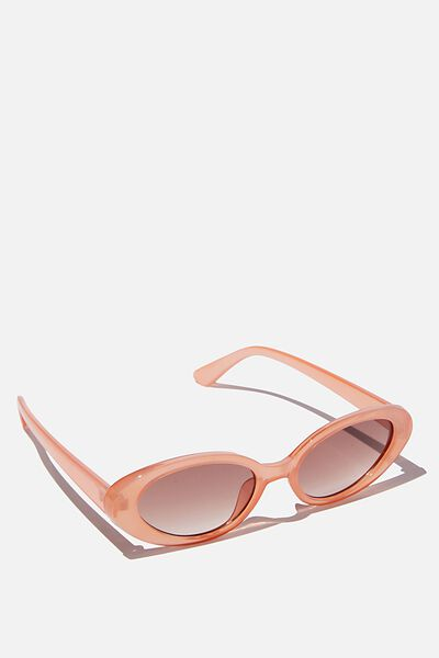 Hazel Sunglasses, PEACH/BROWN