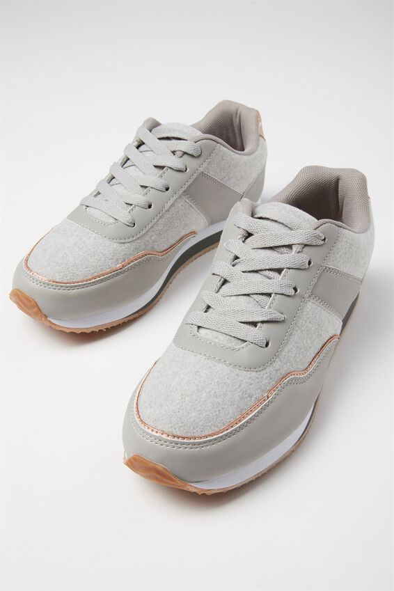 Colour Block Trainer, GREY