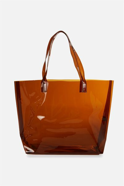 Crystal Clear Tote, SMOKEY BROWN