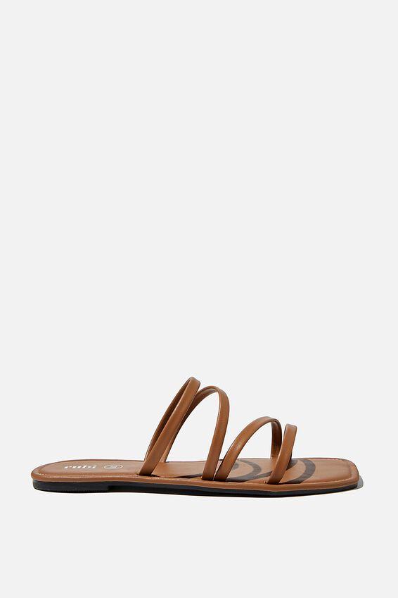 Natalie Strappy Sandal, TAN PU