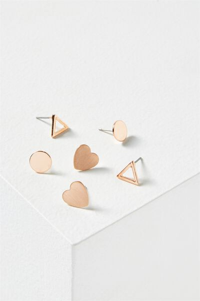 Britt Core Stud Pack, ROSE GOLD