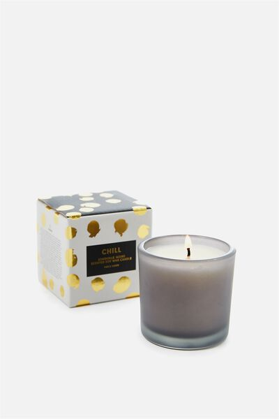 Small Box Candle, GREY/JONQUILLE NOIRE