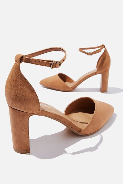 Jeanne Closed Toe Heel, TAN