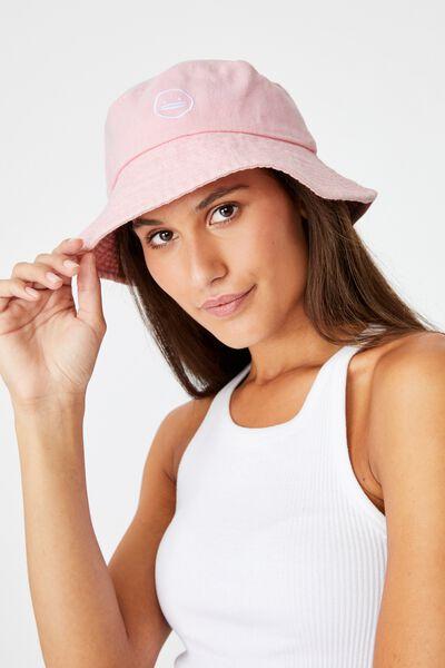Bianca Bucket Hat, LCN IRV IRVINS LOGO/CANDY PINK