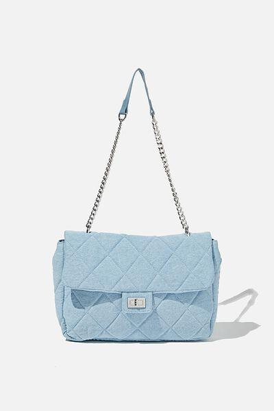 Hailey Oversized Underarm Bag, BURLEIGH BLUE DENIM