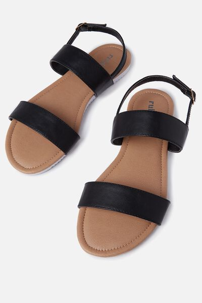 Everyday Marley Sandal, BLACK PU