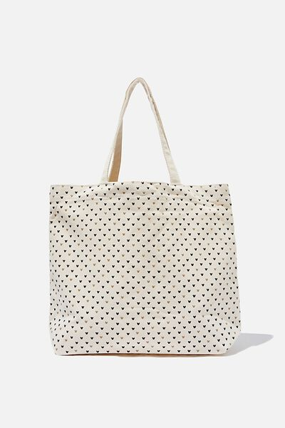 Minimalist Washed Tote, LCN MICKEY REPEAT NATURAL