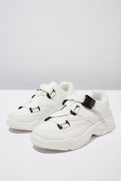 Whitney Chunky Sneaker, WHITE PU