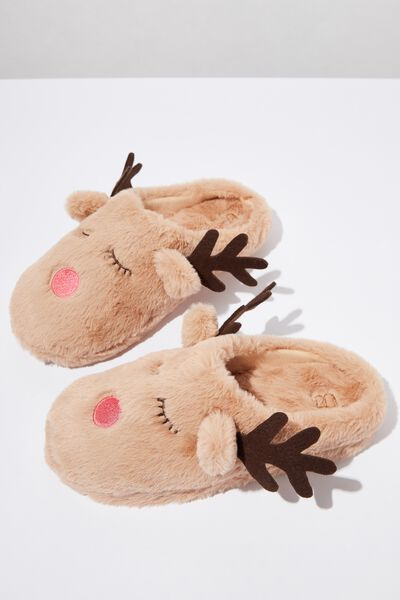 The Novelty Scuff Slipper, REINDEER