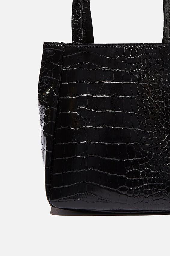 Ella Wristlet Bag, BLACK TEXTURE