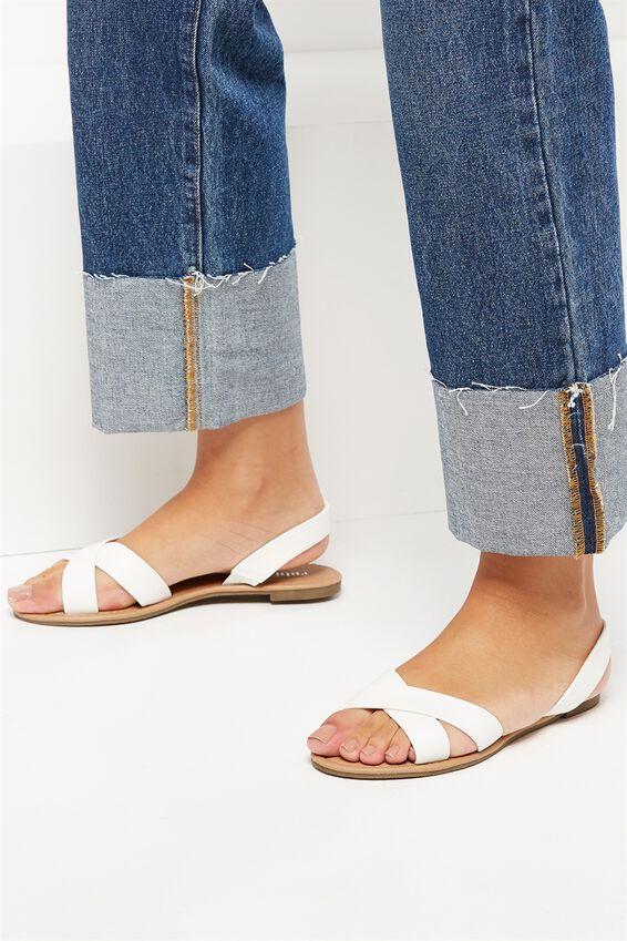 Everyday Banting Crossover Sandal, WHITE