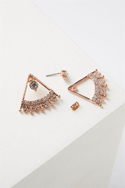 Cleopatra Diamante Earring, ROSE GOLD