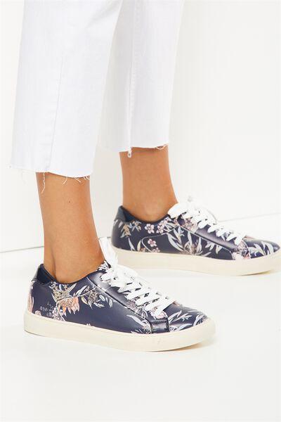 Eloise Sneaker, NAVY FLORAL