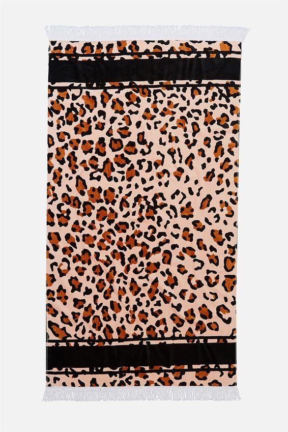 Bondi Rectangle Towel, LEOPARD