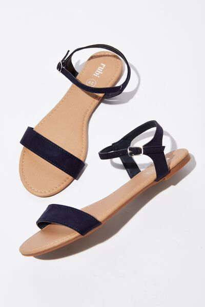 Everyday Thin Strap Sandal, NAVY MICRO