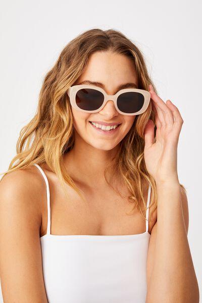 Jade Square Sunglasses, MILKY WHITE