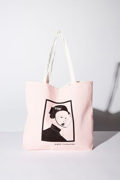 Supre Foundation Tote Bag, FUTURE IS REAL