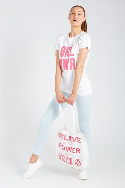 Supre Foundation Tote Bag, BELIEVE IN THE POWER OF GIRLS