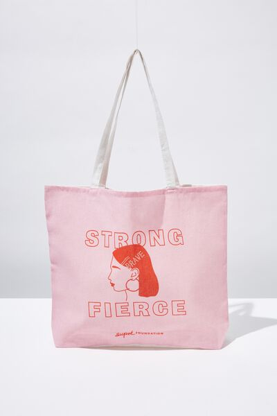 Supre Foundation Tote Bag, STRONG FIERCE