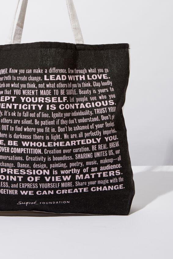 Supre Foundation Tote Bag, MANIFESTO