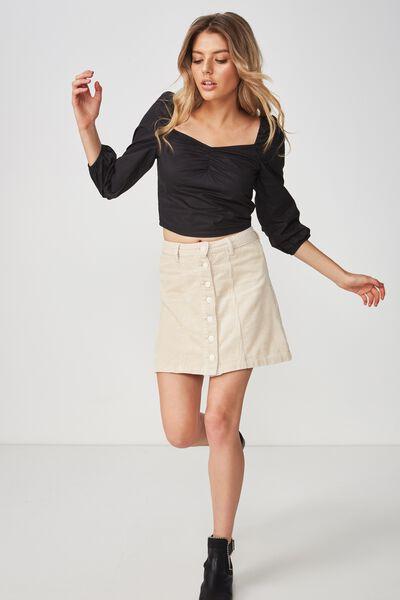 The Olsen Cord Skirt, CREAM PUFF