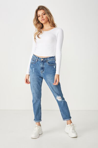 Boyfriend Denim Jean, HAVANA BLUE