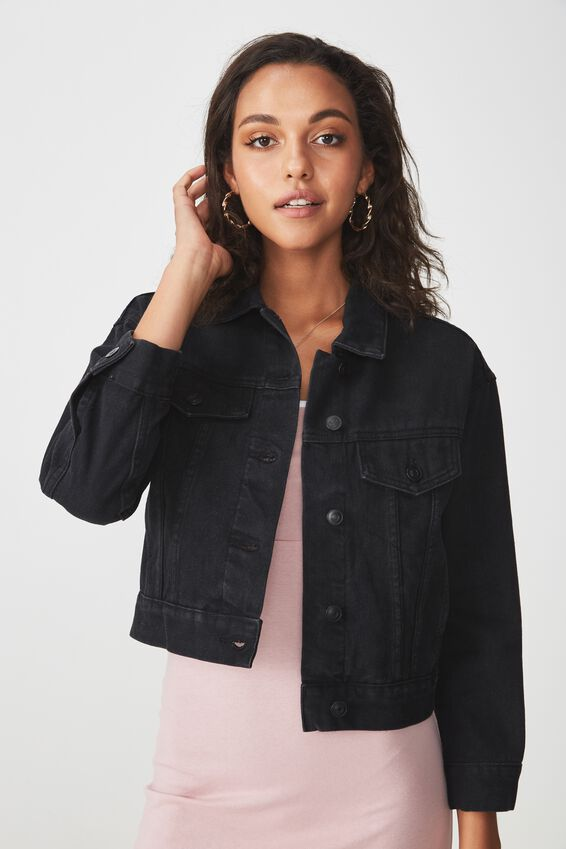 70S Cropped Denim Jacket at Cotton On in Brisbane, QLD | Tuggl