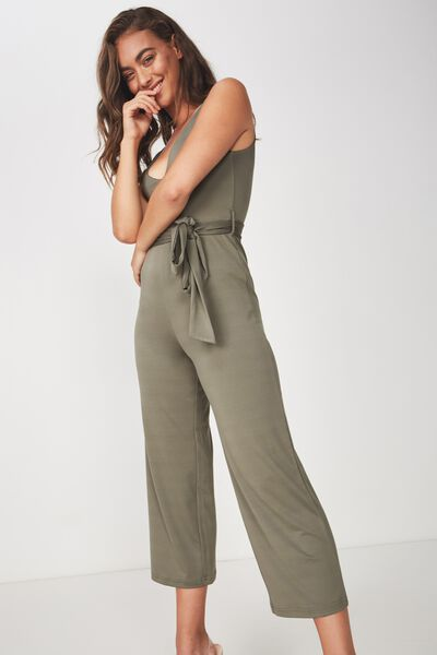 63747ed4758 Deep V Neck Jumpsuit