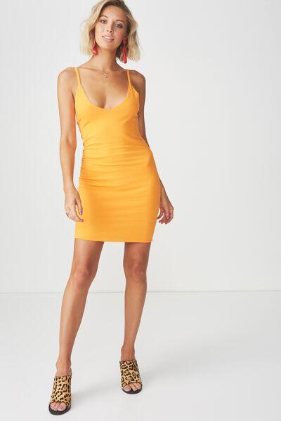 Deep V Double Layer Mini Dress, MANGO