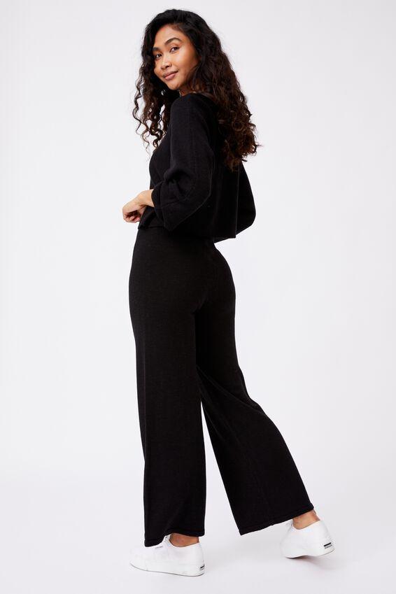 Holly Knit Pant, BLACK
