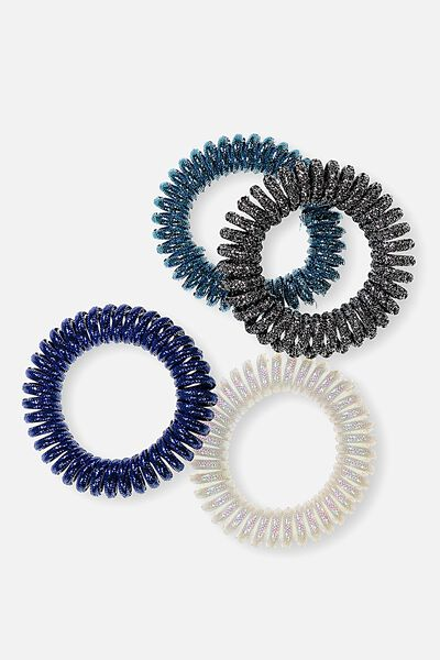 Jelly Hair Ties, METALLIC BLUE