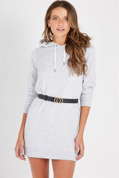 Hooded Sweat Dress, GREY