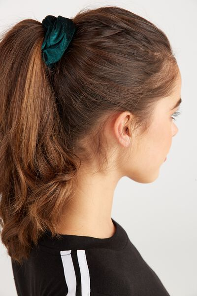 Scrunchie, PLUSH TEAL