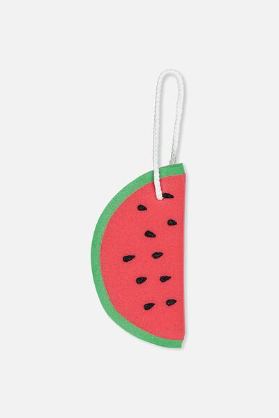 Novelty Bath Sponge, WATERMELON