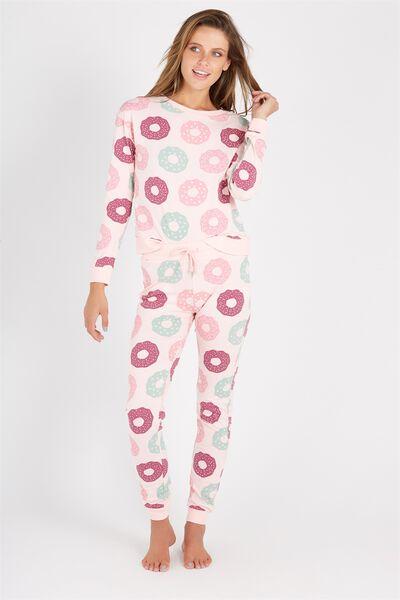 Printed Sleep Pant, DOUGHNUT/PINK