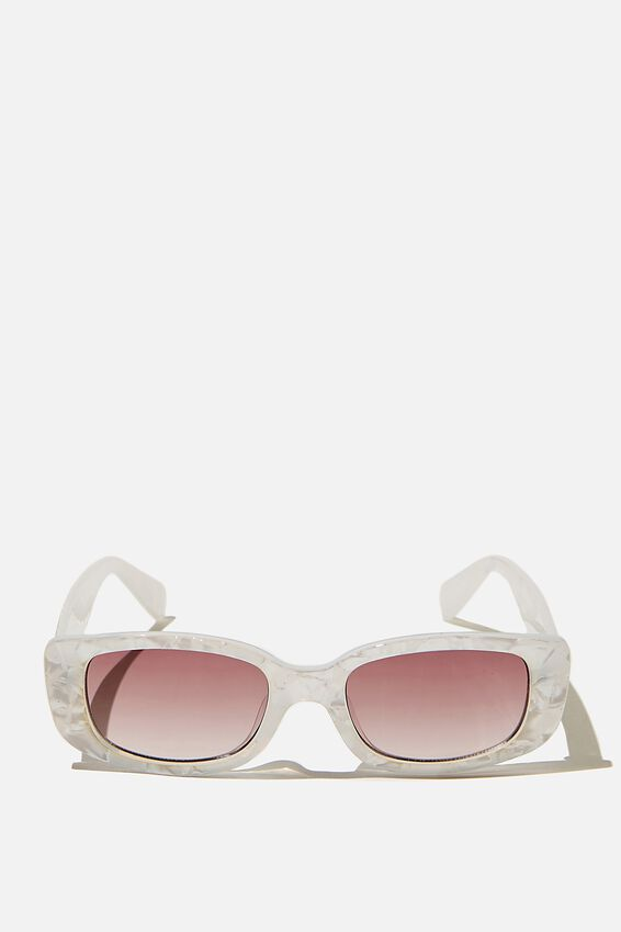 Lillian Coloured Sunglasses, WHITE MARBLE
