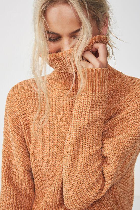 Tully Long Sleeve Chunky Knit, GOLD