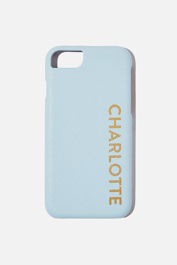 Personalised Phone Covers 6/7/8, 6/7/8 BABY BLUE TEXTURE