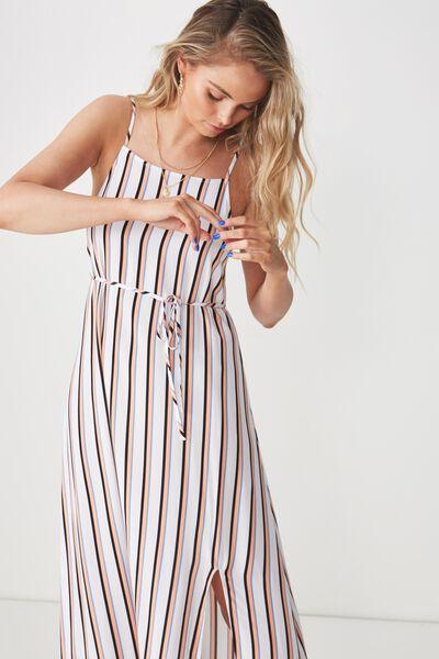 Strappy Maxi Dress, NEON STRIPE