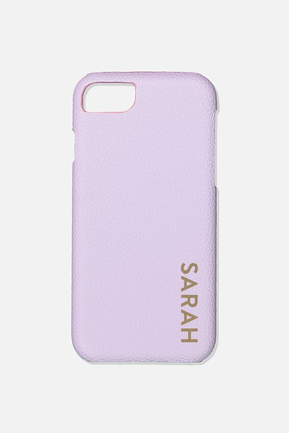 Customised Phone Cover- iPhone 6/7/8, LILAC PEBBLE
