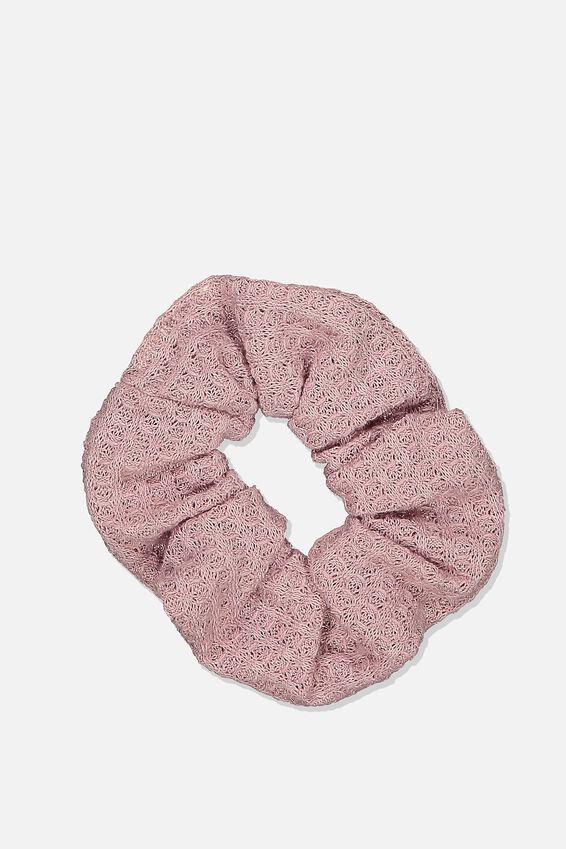 Texture Scrunchie, DUSK PINK