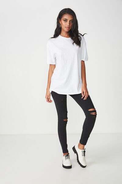 The Super Skinny Sky High Ripped Jean, TRUE WASHED BLACK