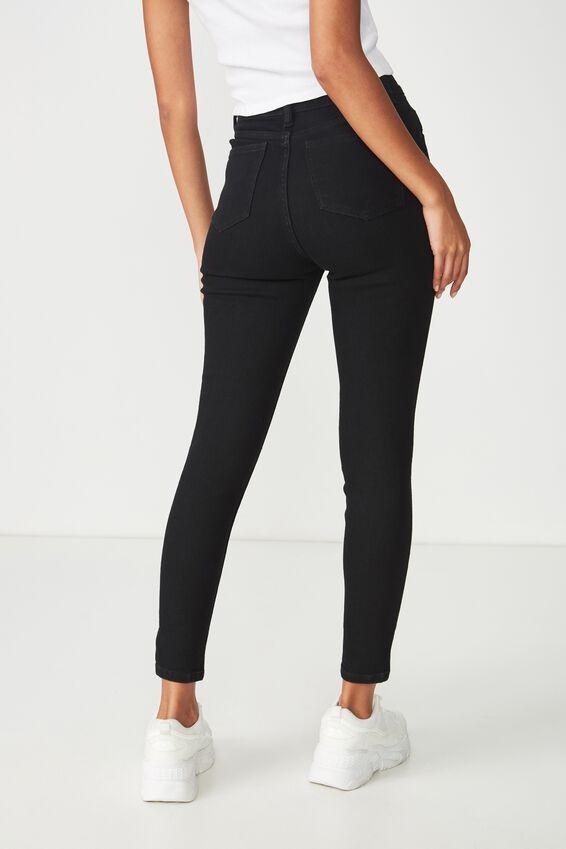 Skinny Premium Ankle Grazer Denim Jean, BLACK
