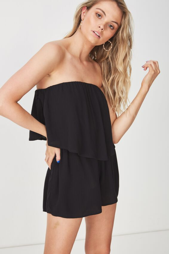 Frill Layer Strapless Playsuit at Cotton On in Brisbane, QLD | Tuggl