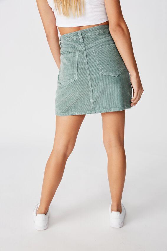 Remi Cord Mini Skirt, DEEP SAGE