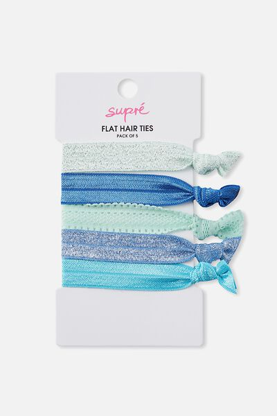 Flat Hair Tie Pack, OCEAN NIGHTS
