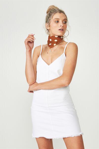 The Falls Denim Dress, WHITE