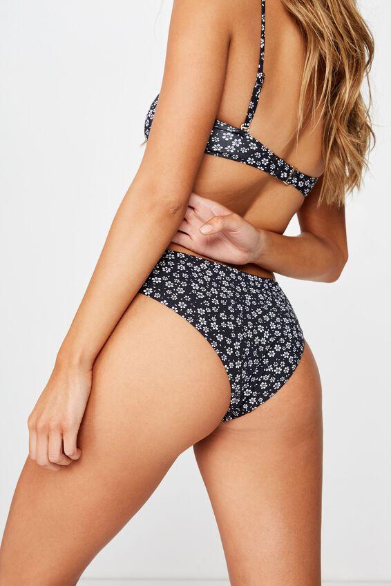 Noosa Seamless Bikini  Bottom, WENDY DITSY BLACK