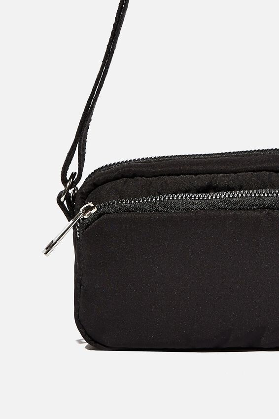 Brenna Small Cross Body Bag, BLACK