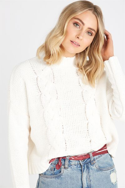 Chloe Cable Knit, CREAM